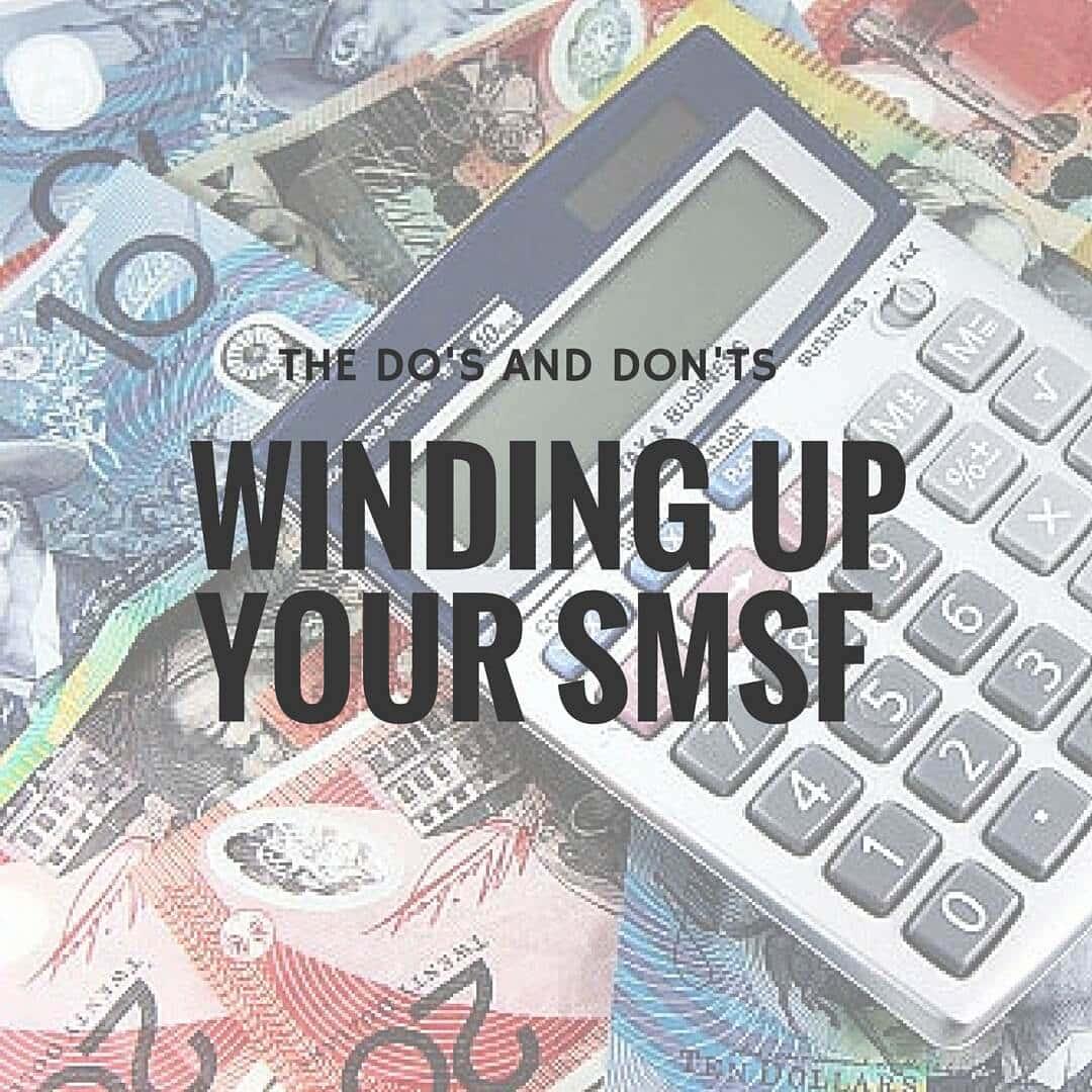 Winding SMSF